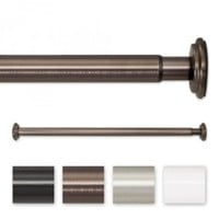 Adjustable Spring Tension or Screw Mount Curtain Rod | Spring Tension Curtain Rod