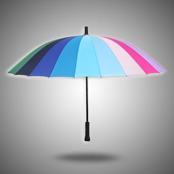 Stylish Design Strong Character Korean King Size Creative Rubber Umbrella [4918248964]