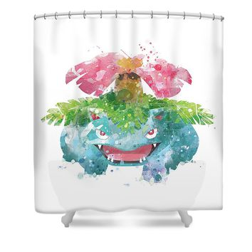 Pokemon Venusaur Shower Curtain