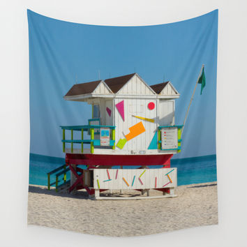 South Beach Wall Tapestry by Brian Biles