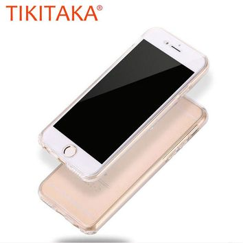 Ultra thin Soft 360 Case For iphone 7 6 6s Plus SE 5 5s Funda Clear Suave TPU GEL Silicon Cover Full Body Protective Phone Cases