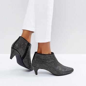 New Look Diamante Heeled Ankle Boot at asos.com
