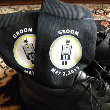 Super Hero Wedding Socks, Grooms Socks, Wedding Gift Ideas, Personalized Wedding Attire Accessory