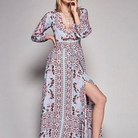 Free People Pandora Printed Gown