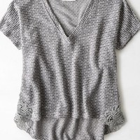 AEO Women's Feather Light Textured Sweater