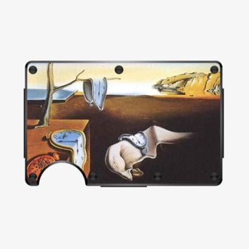 The Persistence of Memory by Salvador Dali, BapUp Partner Aluminum Wallet