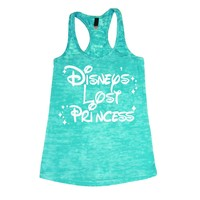 Disney's Lost Princess Women's WHITE INK Burnout Tank Top