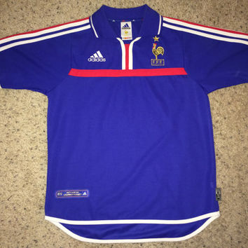 Sale!! Vintage FRANCE 2000 Soccer Jersey FFF Football Jersey