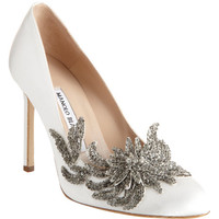Manolo Blahnik Swan at Barneys.com