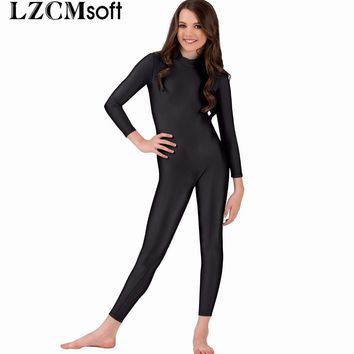 LZCMsoft Child Long Sleeve Unitards For Girls Ballet Dance Gymnastics Unitard Full Bodysuits Toddler Spandex Stage Dancewear