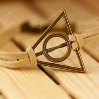 harry potter Bracelet---antique bronze Deathly Hallows