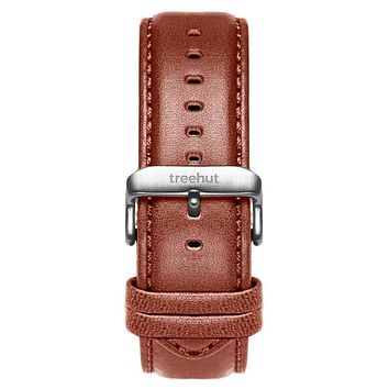 20mm Cognac Brown Padded Leather Band