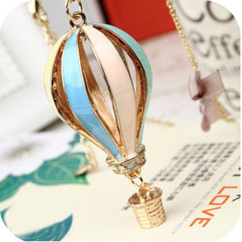 Gift Stylish Jewelry New Arrival Shiny Hollow Out Balloon Sweater Chain Necklace [4923236740]