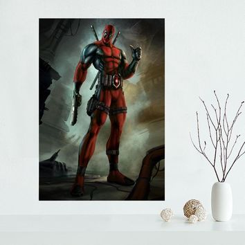 New arrival Deadpool Marvel Comic Canvas Poster Hot Sale Custom Canvas Painting Poster print cloth fabric wall art poster