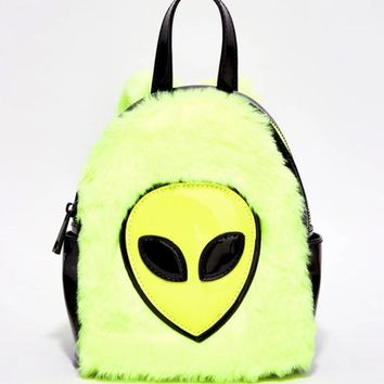FAUX REAL ALIEN MINI BACKPACK