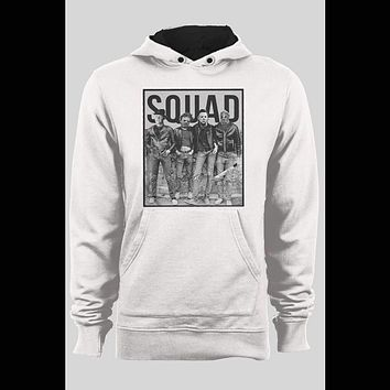 HORROR MOVIE KILLER SQUAD MYERS, JASON, LEATHERFACE, AND FREDDY WINTER PULL OVER HOODIE