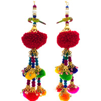 Handmade Rainbow Parrot Indian Earrings