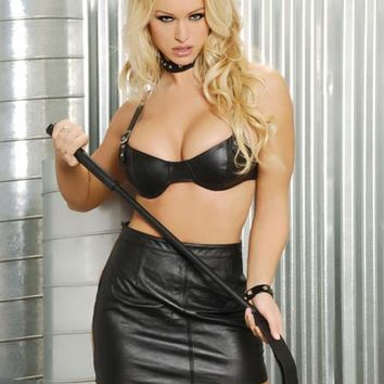 Leather Spanking Skirt (One Size,Black)