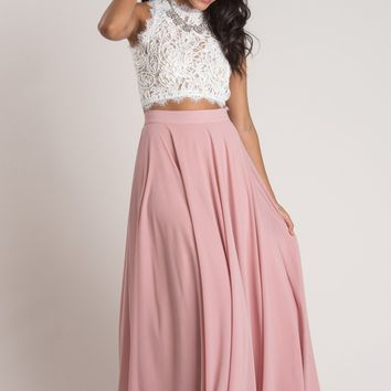 Amelia Full Rose Maxi Skirt