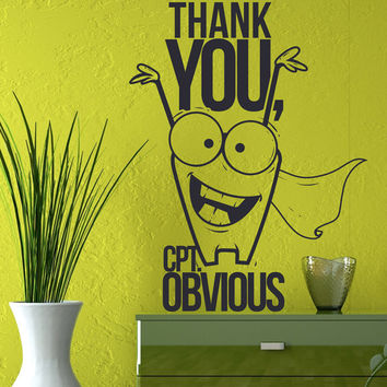 Interior Wall Decal Vinyl Sticker Art Decor programmer program thank you crt. obvious monster comic strip motivation inscription dorm (i134)