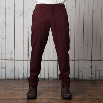 The Easy Rider Pant   Maroon Twill