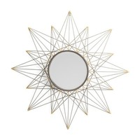 "30"" Gold Star Wall Mirror"