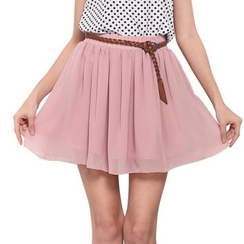 Princess Chiffon Mini Skirt