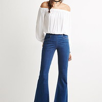 Fray Flared Jeans