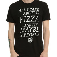 Care About Pizza And 3 People T-Shirt