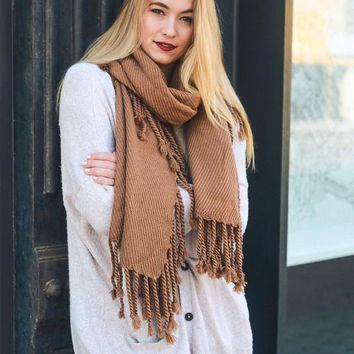 Tassel Knit Scarf | Colors