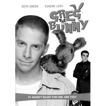 Greg The Bunny poster Metal Sign Wall Art 8in x 12in Black and White