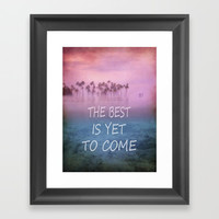 The Best is yet to Come Framed Art Print by Guido Montañés