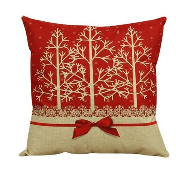 Vintage Winter Pillowcase Cushion Cover Home Decor