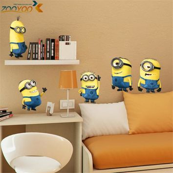 Minions 3D Wall Mural Decals