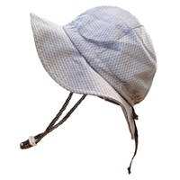 Baby & Toddler Adjustable Sun Hat - Argyle (grey)