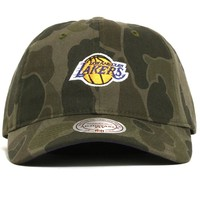 Los Angeles Lakers Camo Slouch Strapback Hat Military Green