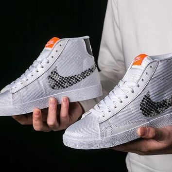 Nike Wmns Blazer Mid PRM Fashion High-Top Old Skool Sneakers Sport Shoes
