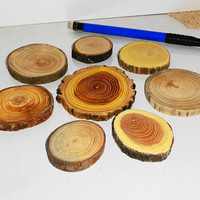 Wood jewelry findings components. Jewelry supply, jewelry craft for rings, earrings, pendants, necklaces, brooches, key chains, magnets ...