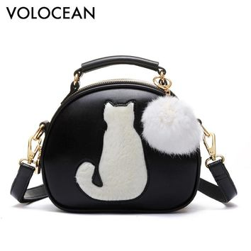 Cute Fox Rabbit Cat Bear Face Women Bag Baby Girl Mini Shoulder Bag For Women Cross Body Bags Lady PU Leather Handbags Animal