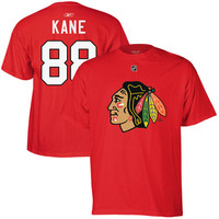 Patrick Kane Chicago Blackhawks Reebok Name and Number Player T-Shirt – Red