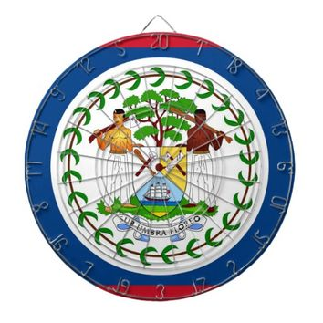 Dartboard with Flag of Belize