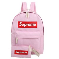 Supreme Canvas Casual Sport School Shoulder Bag Satchel Laptop Bookbag Backpack