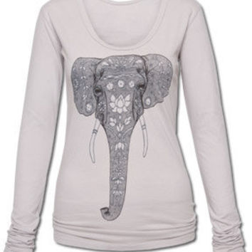 NEW! Painted Elephant Organic Long Sleeve: Soul-Flower Online Store