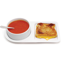 Soup and Sandwich Ceramic Tray Bowl Duo SET