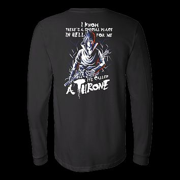 Naruto Sasuke Uchiha Stay on Throne Long Sleeve T shirt - TL00263LS