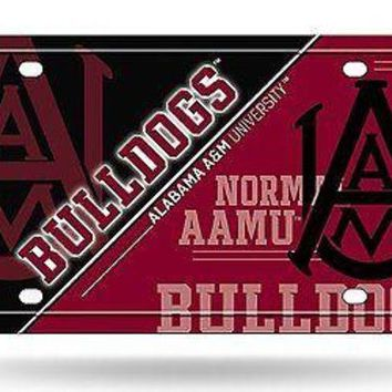 ONETOW Alabama A&M Bulldogs NSD150502 Metal Aluminum License Plate Tag University