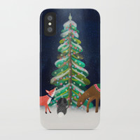 Merry & Bright iPhone Case by noondaydesign