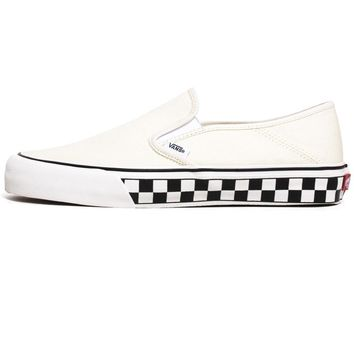 Slip-On SF Sneakers Classic White / Checkerboard