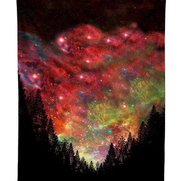 Rasta Woods Forest Galaxy Tapestry