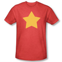 Steven Universe Star Adult Heather Red T-shirt  